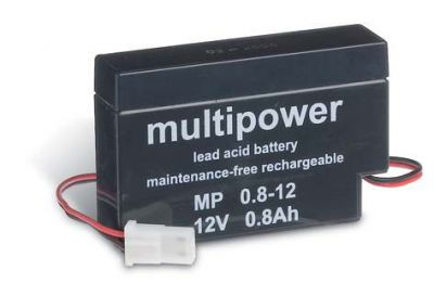 Multipower MP0,8-12H AGM Batterie / Bleiakku 12V 0,8Ah