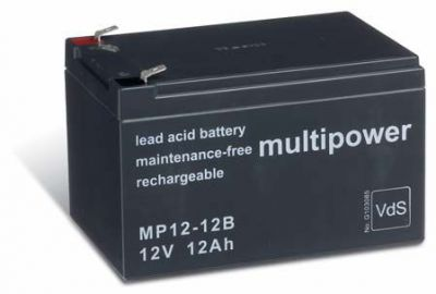 Multipower MP12-12B AGM Batterie / Bleiakku 12V 12Ah