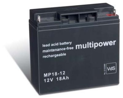 Multipower MP18-12 AGM Batterie / Bleiakku 12V 18Ah VdS