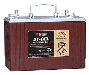 trojan 31 gel cycle batterie 12 volt 102 ah. Black Bedroom Furniture Sets. Home Design Ideas