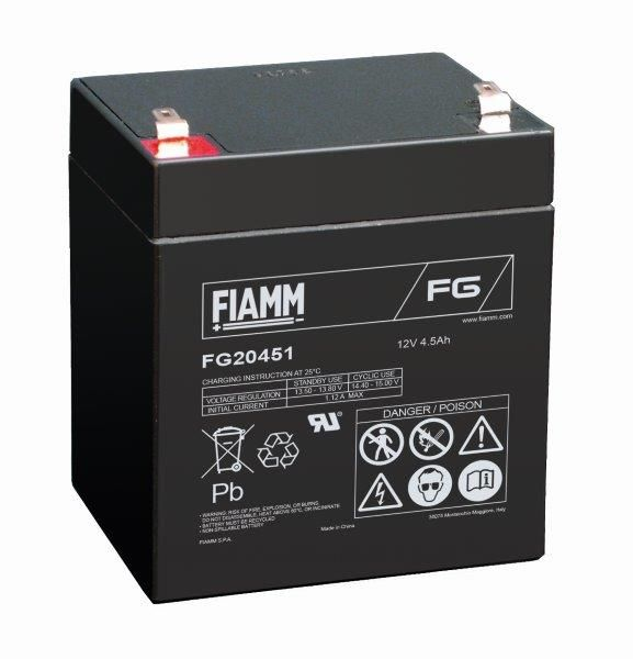 FIAMM FG20451 12V 4,5 Ah Bleigel Blei Akku FG 20451 AGM